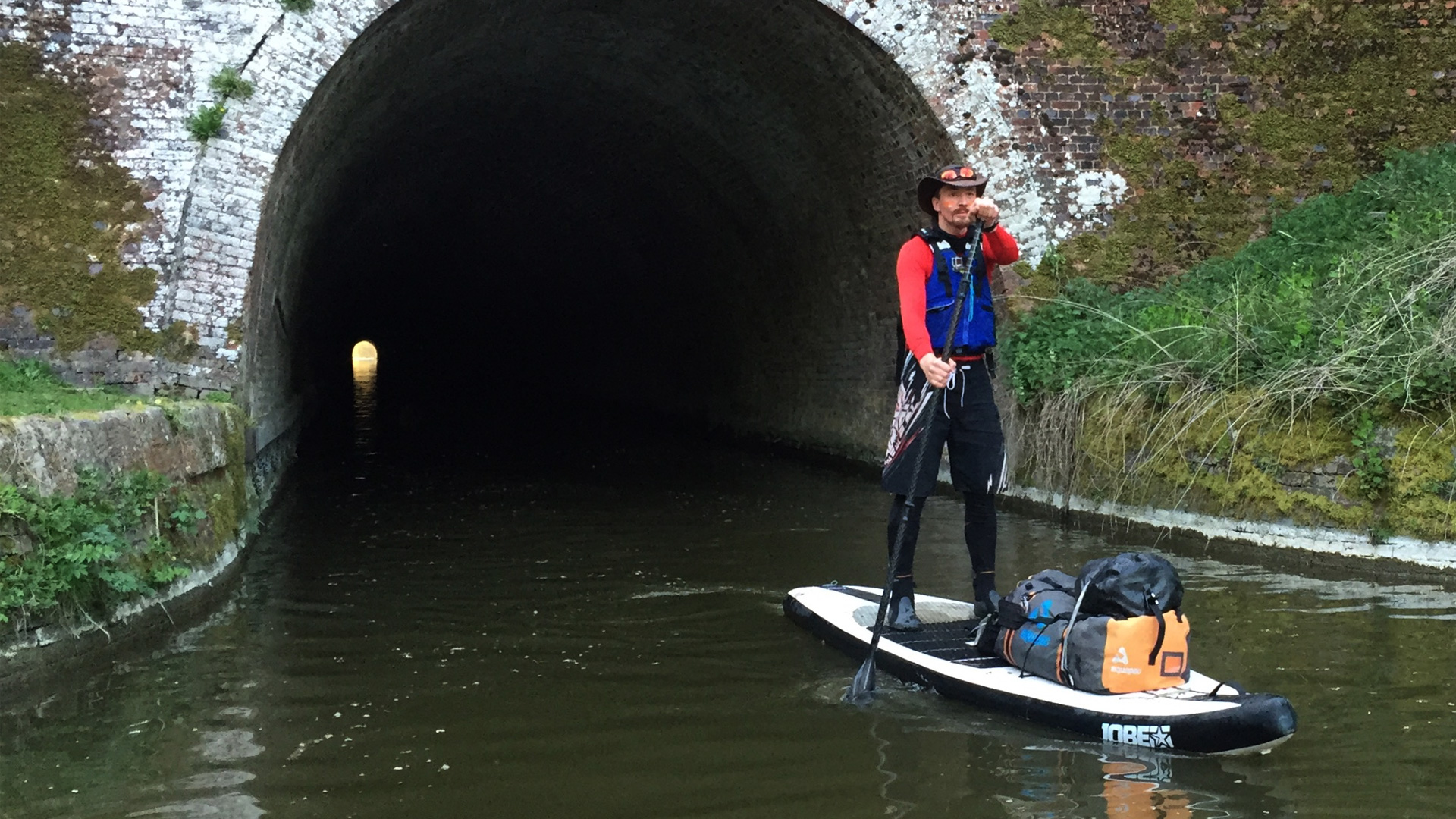 Paddleboarding through Canal Tunnels